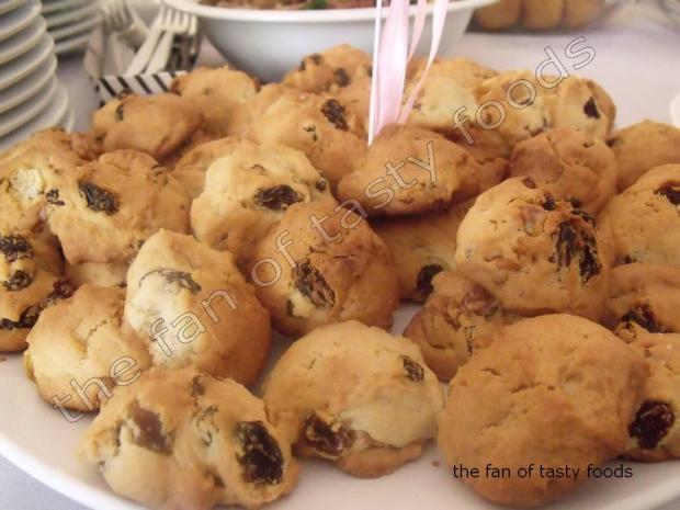 cevizli üzümlü kurabiye