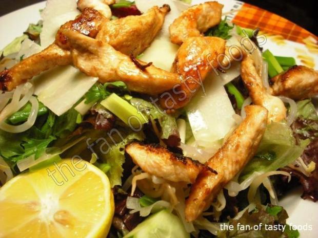 tavuk soteli & parmesanlı salata