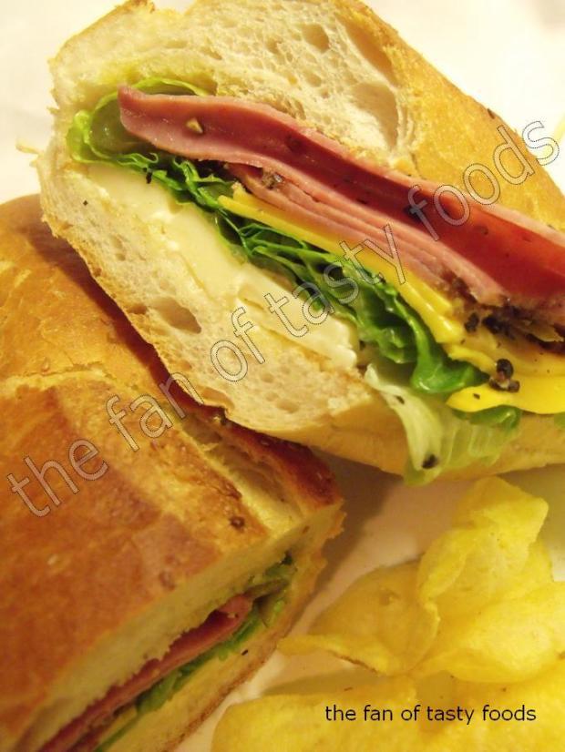 füme etli soğuk sandviç