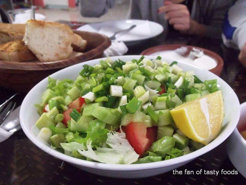 taze soğanlı salata