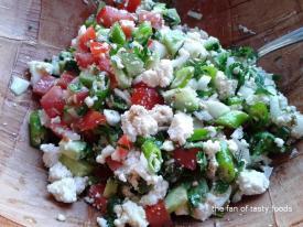 Çökelek Salatası